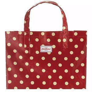 Cath Kidston Button Spot Shopper Berry Red Polka